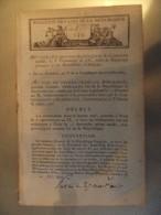 Bulletin Des Lois N°139 An X Convention Entre La Republique Francaise Et Les Etats Unis D'amerique - Décrets & Lois