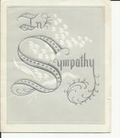 Carte Sympathy Décès - Funérailles