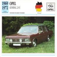 Opel  Admiral 2.8E   -  1969  -  Fiche Technique Automobile (Germany) - Voitures