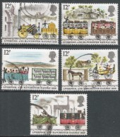 Great Britain. 1980 150h Anniv Of Liverpool And Manchester Railway. Used Complete Set. SG 1113-1117 - 1952-.... (Elizabeth II)