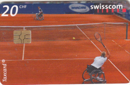 SWITZERLAND - Invacare Tennis World World Team Cup 01/Commitment and performance, chip GEM3.3, tirage 80000, 09/01, used