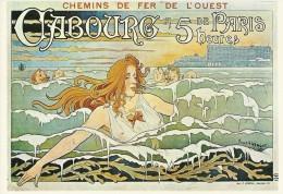 PUBLICITE TRANSPORTS TOURISME  CHEMINS DE FER DE L'OUEST CABOURG 5 HEURES DE PARIS  3029  EDIT. MIC MAX ILL PRIVAT-LIVEM - Publicidad