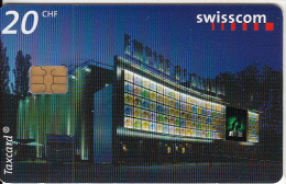 SWITZERLAND -  Empire of Silence II/The pavilion by night, chip Siemens 35, tirage 20000, 08/02, used