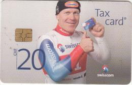 SWITZERLAND -  Ski, Didier Cuche, chip GEM3,3, tirage 50000, exp.date 09/12, used
