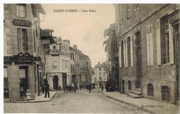 Saint-Junien: rue Saler, horlogerie, animation