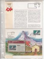 SWITZERLAND(L&G) - Philswiss/Matterhorn(with FDC), CN : 207L, tirage 5000, 07/92, mint