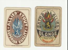 deux dos de carte brasserie alli�s Marchienne au Pont