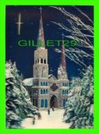 ÉGLISE EN HIVER & ANIMÉE  - 3 DIMENSIONS - ÉCRITE - - Eglises Et Cathédrales