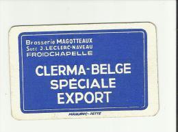 dos de carte brasserie Magotteaux  Froidchapelle