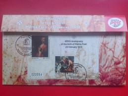2013 Joint Malta / Italy - Mattia Preti (Artist) Birth 450th Anniv (Art)(Painting)(Religion) - Maltese M/s FDC Card - Joint Issues