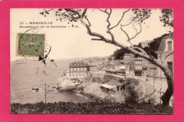 13 BOUCHES DU RHONE MARSEILLE PROMENADE DE LA CORNICHE TRAMWAY Editeur: P. B. - Endoume, Roucas, Corniche, Plages