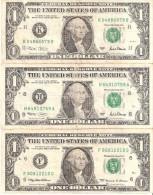 U. S. A. - 1 DOLLAR - 1999 + 2 x 2001-lote-lot - SAN FRANCISCO - CALIFORNIA ** 2 Scans (BANKNOTE)