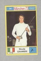 NICOLA GRANIERI....TENNIS..COURT DE TENNIS...OLIMPIADI...OLYMPIC - Trading Cards