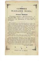 Souvenir Mortuaire HASTIERE-LAVAUX 1880 Madame NOEL Née Philomène BRASSEUR - Décès