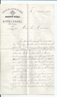 Menestruel  Près Poncin  ( 01 ) --   Lettre  --  Société De La Croix De Jésus  -- 1886   -- B.E. - Documentos Históricos