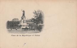 CPA - PARIS - Place De La République Et Statue. Carte Nuage, Dos Simple. - Paris (10)