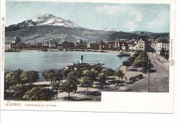 25405 SUISSE Luzern Lucerne -promenade Pilatus -1581 Gebr Wehrli Zurich -  -colorisée - LU Lucerne