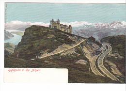 25406 SUISSE Luzern Lucerne -Rigikulm Et Die Alpen, Train Montagne -1533 Gebr Wehrli Zurich -  -colorisée