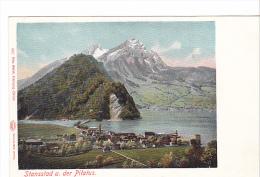25409 SUISSE Luzern Lucerne -Stansstad Der Pilatus -1827 Gebr Wehrli Zurich Glazer-  -colorisée