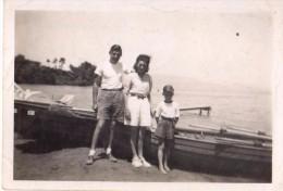Photo Originale De Bateaux - Souvenir D'excurssion Sur Les Bords Du Lac Léman En 1947 - - Schiffe