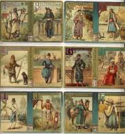 Liebig 1893 Sanguinetti N. 369 Alfabeto Maschile - 6 Figurine A-L (Italia) € 60 - Liebig