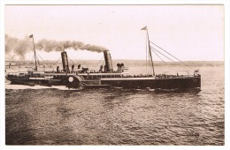 RB 1069 - Early Real Photo Postcard - Paddlesteamer Ship Boat - Paquebote