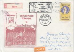 HANDBALL, EUROPEAN CUP, REGISTERED SPECIAL COVER, 1982, ROMANIA - Hand-Ball