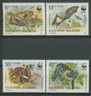 BL2 379 BULGARIA WWF BATS, CHIROPTERE, FLEDERTIERE, CHIROTTERIE, VLEERMUIZEN. MNH, POSTFRIS, NEUF** - Vleermuizen