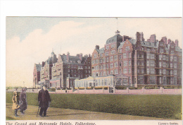 25413 -3 Cpa- Grand And Metropole Hotels & Lees Shelter & Lees Folkestone -upton's Series -colorisée