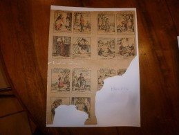 Vers 1900       Imagerie D'Epinal  N° 1313     QUESTIONS- DEVINETTES   ( 49, 50 , 51 )      Pellerin & Cie - Vieux Papiers