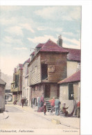 25414 -3 Cpa- Fishmarket & Lower Sandgate Road & Harbour Fishing Portion / Folkestone -upton´s Series -colorisée