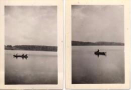 Photo Originale de Bateaux - P�cheurs et Barques au milieu de l'eau - 2 Photos -