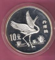 CHINA 10 YUAN 1989 SILVER PROOF EAGLE IN FLIGHT 5000 PCS. - China
