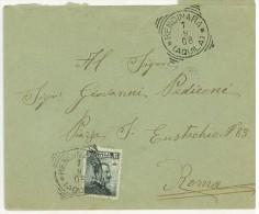 LETTERA -  ANNO 1908 - GIOVANNI PEDICONI - RENDINARA (AQUILA) - PER ROMA - - Poststempel