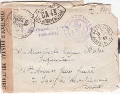1939 Enveloppe +2 Lettres Dedans +Cachets: Base Aéronautique Du HAVRE Vaguemestre + Marine Nationale Service à La Mer - Militaria