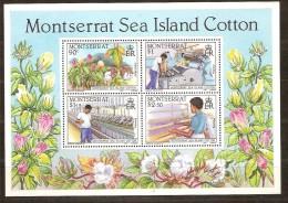 Montserrat 1985 Yvertnr. Bloc 30 *** MNH Cote 9 Euro Flore Cotton Katoen - Montserrat