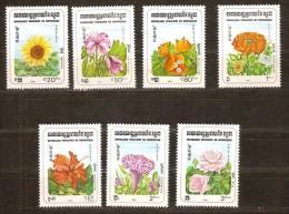 Kampuchea 1983 Yvertnr. 419-25 *** MNH Cote 7,50 Euro Flore Bloemen Flowers - Kampuchea