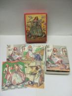Ancien Puzzle JEU De 12 CUBES En BOIS Complet : CENDRILLON - Giocattoli Antichi