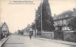 SAINT AMAND MONTROND 18 - La Rue De Juranville Et La Sous-Préfecture - CPA - Cher - BERRY ( ST ) - Saint-Amand-Montrond