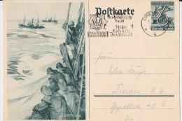 """DR 33 Bis 45: GS-Karte 6+4 Pfg  """"WHW 1937""""  Gebraucht, Chemnitz 1.5.38 Nach Dresden  Knr: P 266 - Briefe U. Dokumente"""