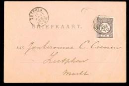 HANDGESCHREVEN BRIEFKAART Uit 1895 Gelopen Van UTRECHT Naar JONKVROUWE COENEN  Te ZUTPHEN (10.059k) - Periode 1891-1948 (Wilhelmina)