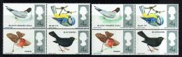 1966  Birds Set  SG 255-8  ERROR  Partially Missing Green Colour  With Normal Block - 1952-.... (Elizabeth II)