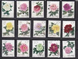 Chine ,s�rie fleurs 1552 / 1566 ** ,neufs sans charni�re