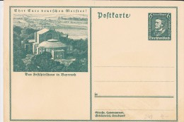 """DR 33 Bis 45: GS-Nothilfe-Karte 6+4 Pfg  """"Nothilfe 1933"""", Mit Bild Vom Festspielhaus In Bayreuth Ungebraucht  Knr: P 249 - Briefe U. Dokumente"""