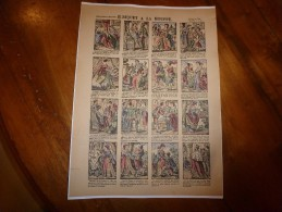 Vers 1900  Imageries Réunies Jarville-Nancy   Planche N° 537   RIQUET A LA HOUPPE.     Conte Des Fées - Verzamelingen