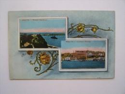 MALATA MALTE Grand Harbour Custom House Correspondance De Guerre 1914 1918 Marin Embarqué Sur Le Danton Cuirassé Coulé - Malta