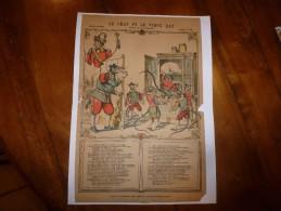 Vers 1900 Imagerie De Pont-à-Mousson, Marcel Vagné Et Ses Fils N° 1235  LE CHAT ET LE VIEUX RAT   (La Fontaine) - Vieux Papiers