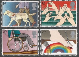 Great Britain. 1981 International Year Of The Disabled. Used Complete Set. SG 1147-1150 - 1952-.... (Elizabeth II)