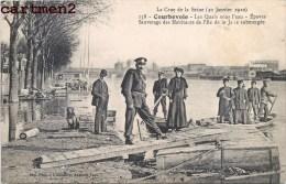 COURBEVOIE SAUVETAGE DES HABITANTS DE L'ILE DE LA JATE SUBMERGEE INONDATION 1910 CRUE DE LA SEINE 92 - Courbevoie