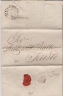 Turkey 1829 Constantinople To Trieste Austria Via Semlin - NETTO DI FUORA ET DI DENTRO - Levant - Turkey
